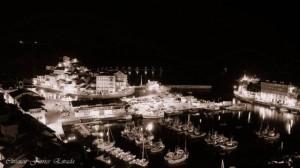 foto nocturna puerto y cambaral